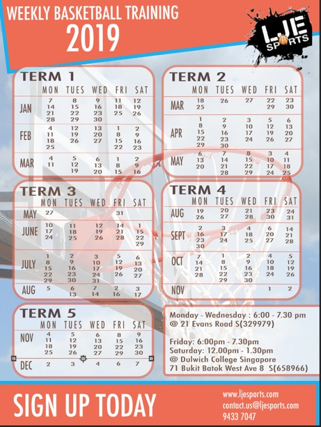 Weekly Basketball Training Programs In Singapore   LJE Sports